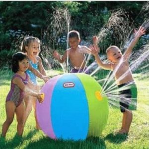 Sprinkler inflatable water ball