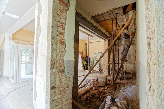 Remodeling in progress